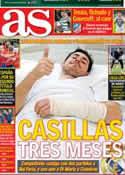 Portada diario AS del 26 de Enero de 2013
