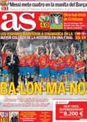 Portada diario AS del 28 de Enero de 2013