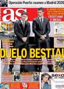 Portada diario AS del 29 de Enero de 2013