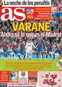 Portada diario AS del 1 de Febrero de 2013
