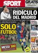 Portada diario Sport del 3 de Febrero de 2013