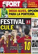 Portada diario Sport del 7 de Febrero de 2013