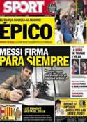 Portada diario Sport del 8 de Febrero de 2013