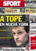 Portada diario Sport del 9 de Febrero de 2013