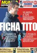 Portada Mundo Deportivo del 9 de Febrero de 2013