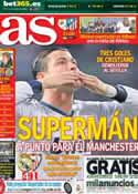 Portada diario AS del 10 de Febrero de 2013