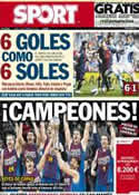 Portada diario Sport del 11 de Febrero de 2013