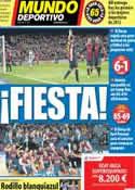 Portada Mundo Deportivo del 11 de Febrero de 2013