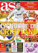 Portada diario AS del 13 de Febrero de 2013