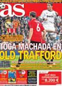 Portada diario AS del 14 de Febrero de 2013