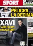 Portada diario Sport del 14 de Febrero de 2013