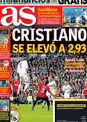 Portada diario AS del 15 de Febrero de 2013