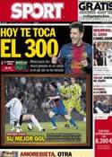 Portada diario Sport del 16 de Febrero de 2013