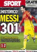 Portada diario Sport del 17 de Febrero de 2013