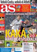 Portada diario AS del 18 de Febrero de 2013