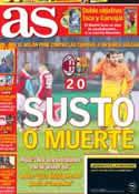 Portada diario AS del 21 de Febrero de 2013