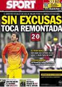 Portada diario Sport del 21 de Febrero de 2013