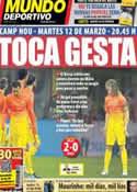 Portada Mundo Deportivo del 21 de Febrero de 2013
