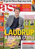 Portada diario AS del 22 de Febrero de 2013
