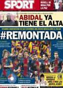 Portada diario Sport del 22 de Febrero de 2013