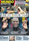 Portada Mundo Deportivo del 22 de Febrero de 2013