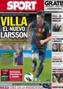 Portada diario Sport del 23 de Febrero de 2013