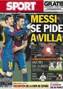 Portada diario Sport del 25 de Febrero de 2013
