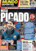 Portada Mundo Deportivo del 26 de Febrero de 2013