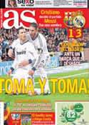 Portada diario AS del 27 de Febrero de 2013