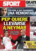 Portada diario Sport del 1 de Marzo de 2013