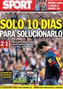Portada diario Sport del 3 de Marzo de 2013
