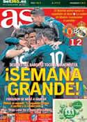 Portada diario AS del 6 de Marzo de 2013