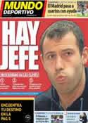 Portada Mundo Deportivo del 6 de Marzo de 2013