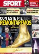 Portada diario Sport del 7 de Marzo de 2013