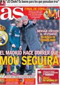 Portada diario AS del 8 de Marzo de 2013
