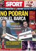 Portada diario Sport del 8 de Marzo de 2013