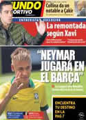 Portada Mundo Deportivo del 8 de Marzo de 2013
