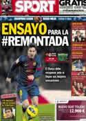Portada diario Sport del 9 de Marzo de 2013