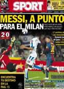Portada diario Sport del 10 de Marzo de 2013