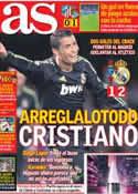 Portada diario AS del 11 de Marzo de 2013
