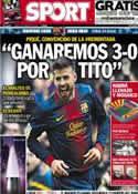 Portada diario Sport del 11 de Marzo de 2013