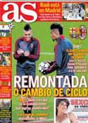 Portada diario AS del 12 de Marzo de 2013