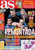 Portada diario AS del 13 de Marzo de 2013