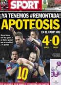 Portada diario Sport del 13 de Marzo de 2013