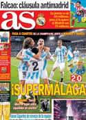 Portada diario AS del 14 de Marzo de 2013