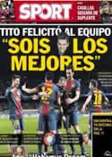 Portada diario Sport del 14 de Marzo de 2013