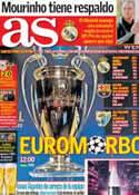 Portada diario AS del 15 de Marzo de 2013