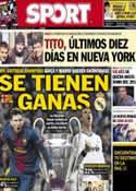 Portada diario Sport del 15 de Marzo de 2013