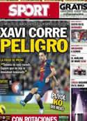 Portada diario Sport del 17 de Marzo de 2013
