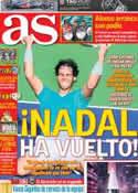 Portada diario AS del 18 de Marzo de 2013